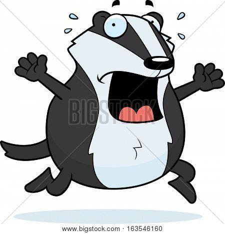 Cartoon Badger Panic