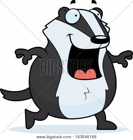 Cartoon Badger Walking