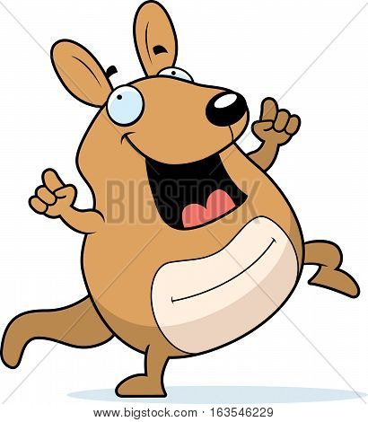 Cartoon Wallaby Dancing