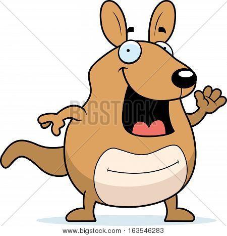 Cartoon Wallaby Waving