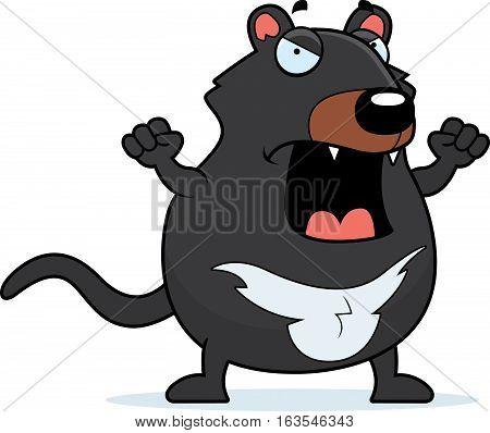 Cartoon Tasmanian Devil Angry