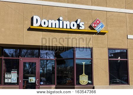 Lafayette - Circa December 2016: Domino's Pizza Carryout Restaurant. Domino's delivers more than 1 million pizzas a day V