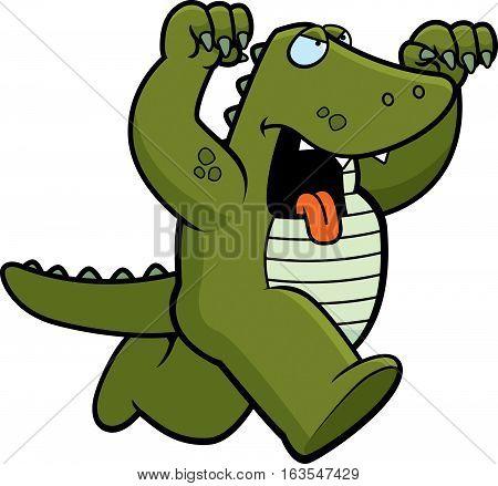 Cartoon Alligator Attacking
