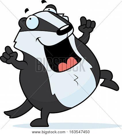 Cartoon Badger Dancing