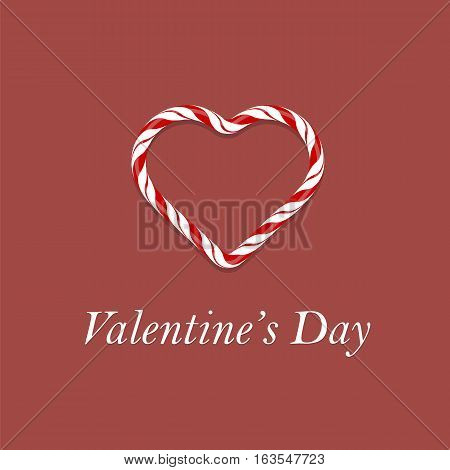 Valentines Day Romantic Banner on Red Background.