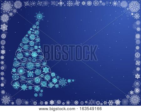 Background With Curved Christmas Tree