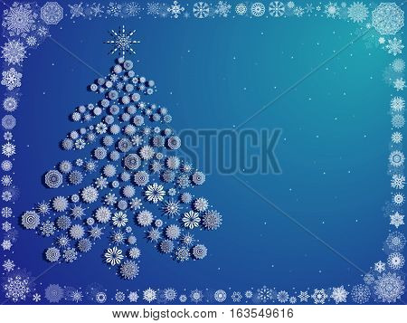 Background With Ornate Christmas Tree