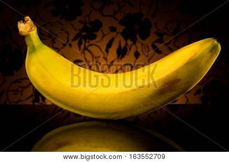 Fresh bananas organic fruit table diet yellow refreshing