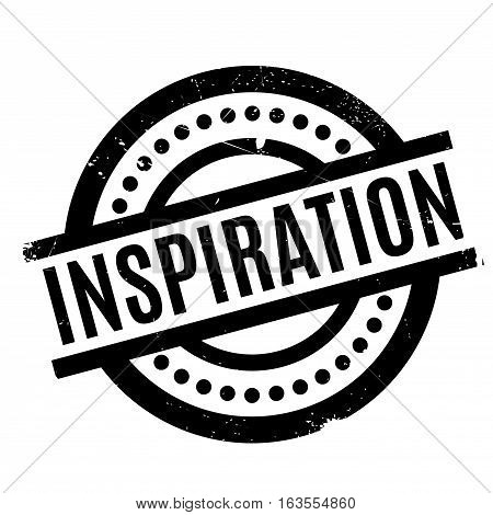 Inspiration rubber stamp. Grunge design with dust scratches. Effects can be easily removed for a clean, crisp look. Color is easily changed.