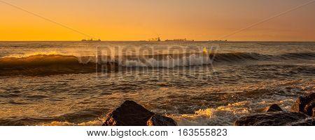 Sea Wave, Black Sea, Poti, Georgian Coast