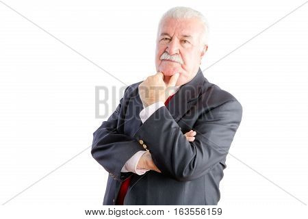 Thoughtful Mature Businessman In Suit