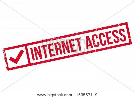 Internet Access rubber stamp. Grunge design with dust scratches. Effects can be easily removed for a clean, crisp look. Color is easily changed.