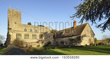 Priory Farmhouse & Priory Church of Saint Mary Deerhurst Tewkesbury Gloucestershire