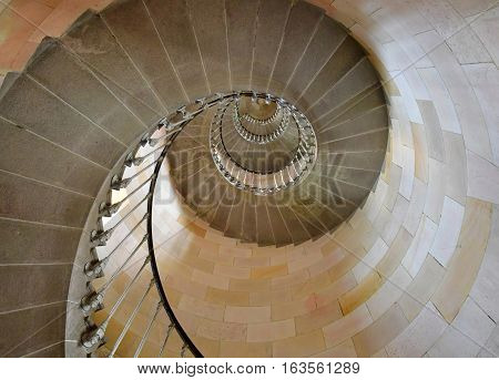 Saint Clement des Baleines France - september 26 2016 : the lighthouse stairs