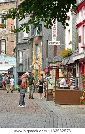 Honfleur France - august 18 2016 : the picturesque city in summer