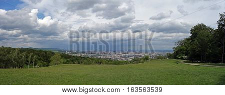 Panoramic view from Lainzer Tiergarten. Vienna is the capital and the largest city of Austria, and one of the nine states of Austria