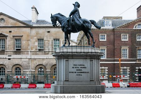 Equestrian Statue, George Duke of Cambridge, Whitehall, London