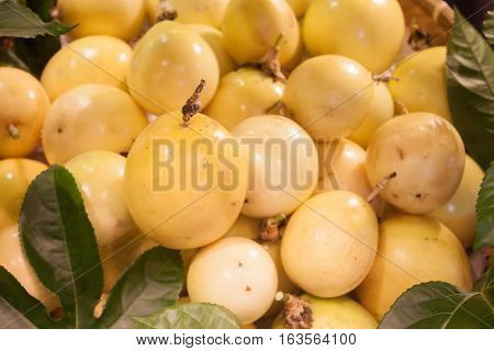 Background of fresh passion fruit, stock photo