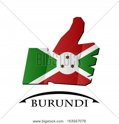 like icon made from the flag of burundi