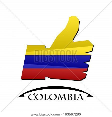 like icon made from the flag of colombia
