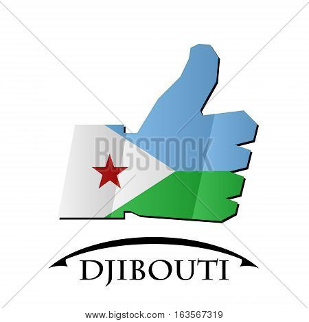 like icon made from the flag of Djibouti