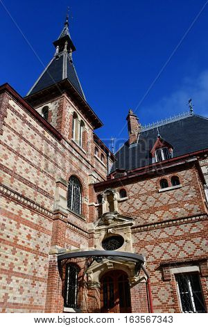 Les Mureaux France - october 22 2016 : the Bouvaist manor