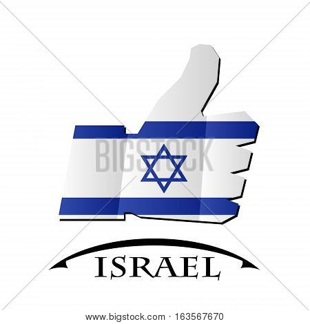 like icon made from the flag of Israel