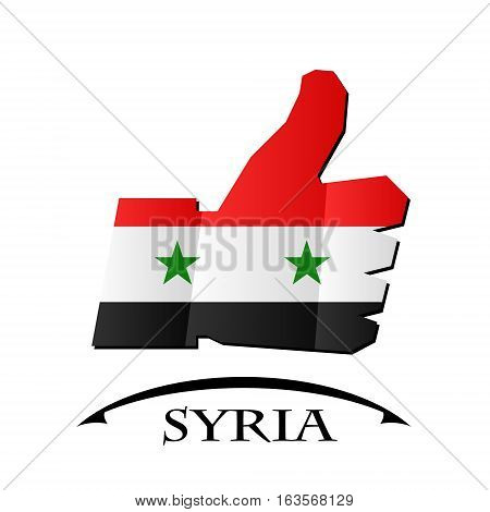 like icon made from the flag of Syria