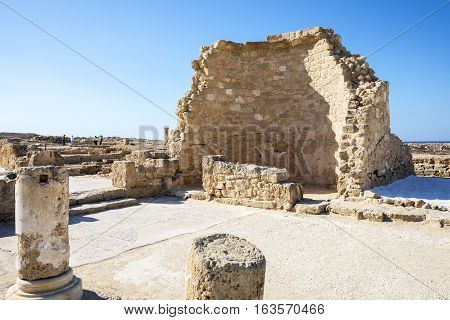 Greece Cyprus Pafos ruins of Hellenistic/Roman period in the archaeological site