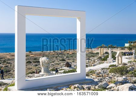 Aya Napa Greece - November 26 2016: Cyprus island the International Sculpture Park