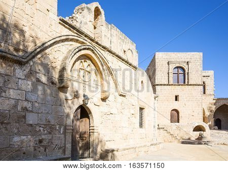Greece Cyprus Aya Napa the church of the Monastery (14th century)