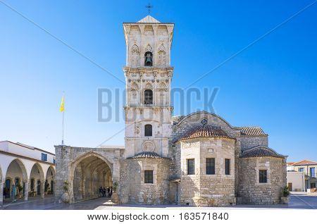 Larnaka Creece - November 26 2016: Cyprus island the St. Lazarus church