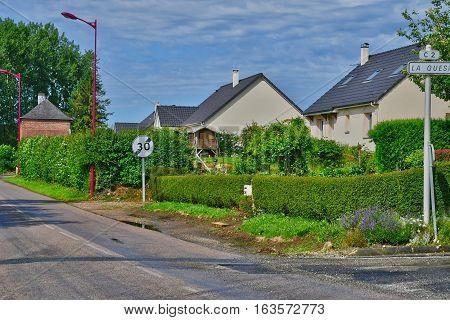 Bois Guilbert France - june 23 2016 : the village in summer