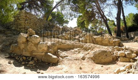 picturesque ruins of an ancient Minoan palace Crete Greece the history of Europe