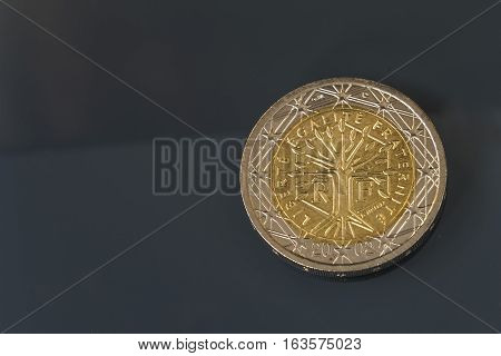 2 Eur Coin Issued By France - Liberty, Equality, Fraternity