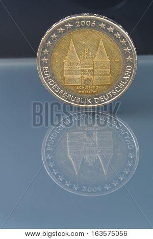 Commemorative 2 Eur Coin; Schleswig Hollstein, Germany