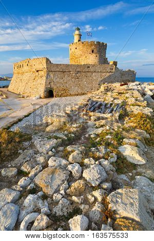 Fort of St. Nicholas in town of Rhodes.
