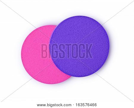 Pink And Violet Make Up Sponges