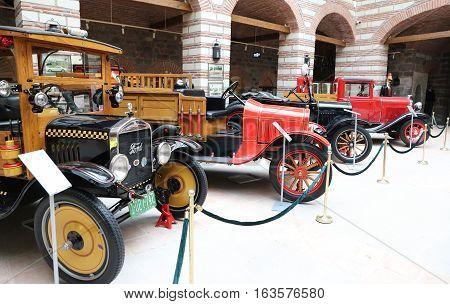 Antique Cars In Ankara Koc Museum