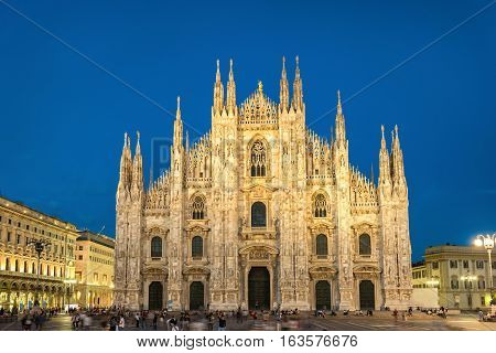 Night View Of Milan Cathedral
