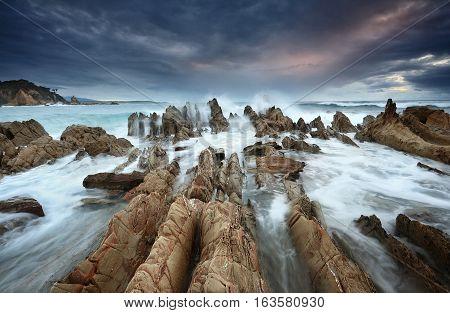 Barraga Bay Coastline With Wild Seas