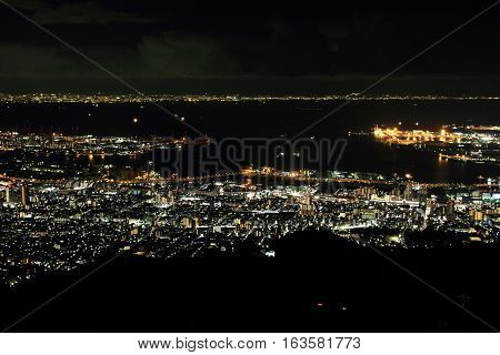 10 million dollars night view of Kobe Japan
