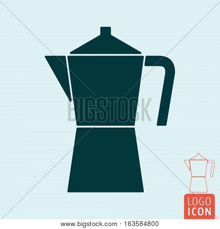 Coffee maker icon. Drink coffee symbol. Vector illustration