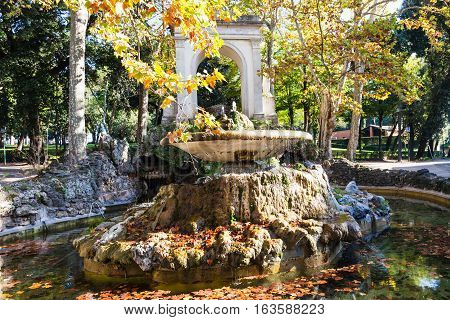 View Of Fountain In Villa Borghese Public Gardens