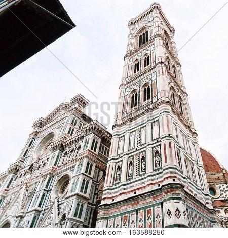 Giotto's Campanile And Facade Of Duomo In Morning