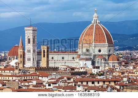 View Of Cathedral In Florence Town