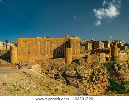 View to Shibam fortress and old city in Yemen