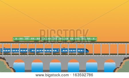 Double Deck Bridge Upper For Railcar Train And Lower For High Speed Train