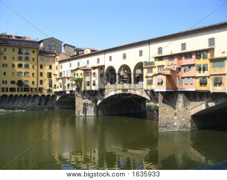 A Old Bridge In The Florence