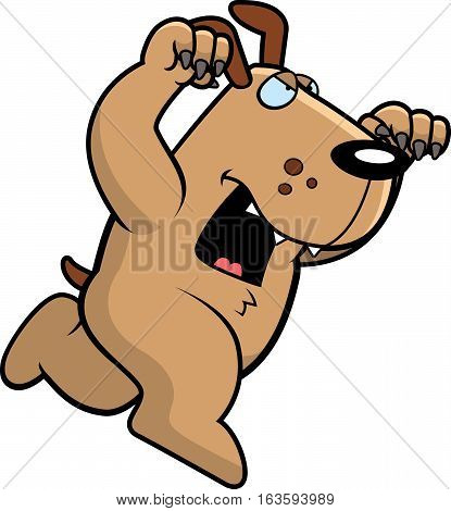 Cartoon Dog Attacking